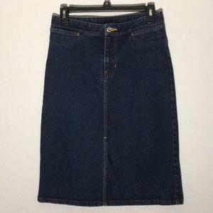 GAP Denim Jean Skirt Size 4 Stretch